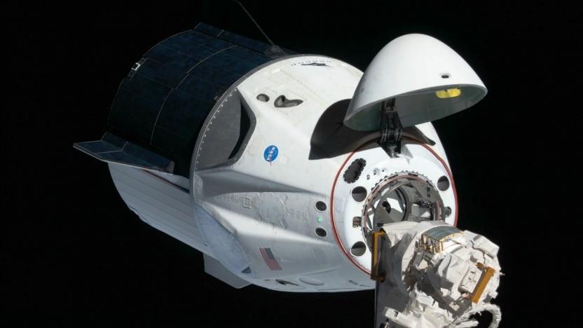 Der Crew Dragon von SpaceX soll auch kommerzielle Astronauten zur ISS bringen.