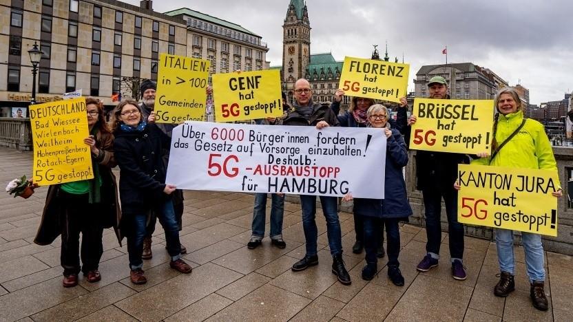 Protest gegen 5G: Kann man machen, aber die Fakten sollten stimmen.