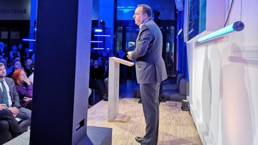 Telefónica-Deutschland-Chef Markus Haas am 9. März 2020 beim Basecamp in Berlin