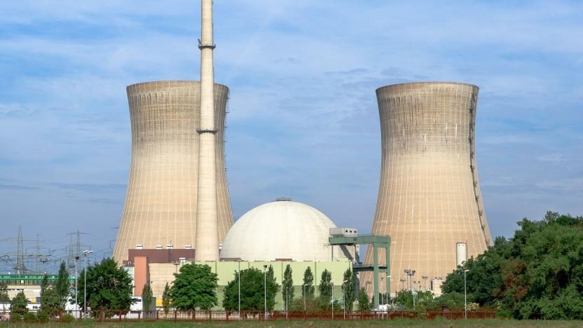 Atomkraftwerk Grafenrheinfeld (Symbolbild): tranportabel auf der Straße, der Schiene, der See oder in der Luft