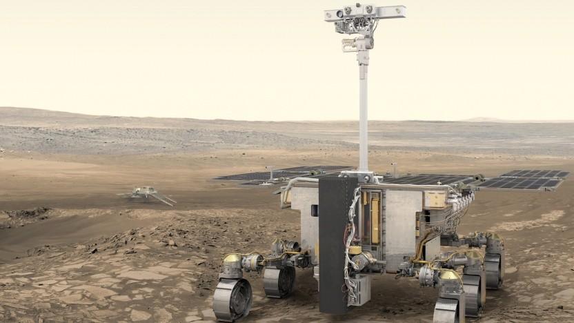 Der Exomars Rover sollte bereits 2018 zum roten Planeten fliegen.
