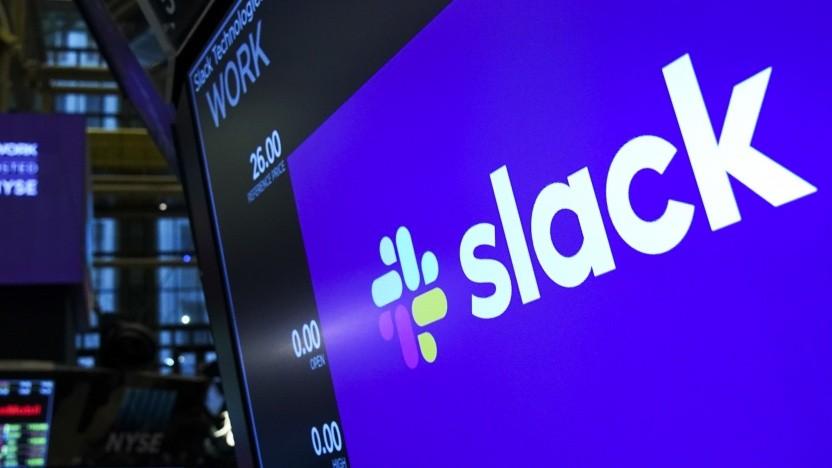 Slack-Aktien verlieren an Wert.