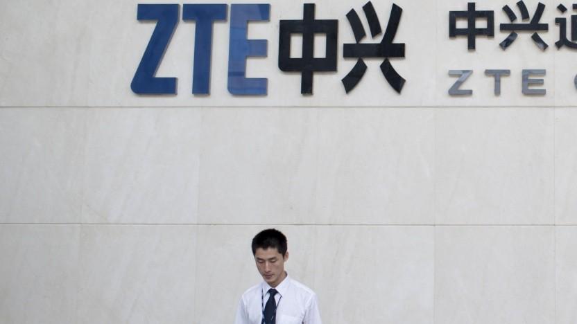 Am ZTE-Hauptsitz in Shenzhen