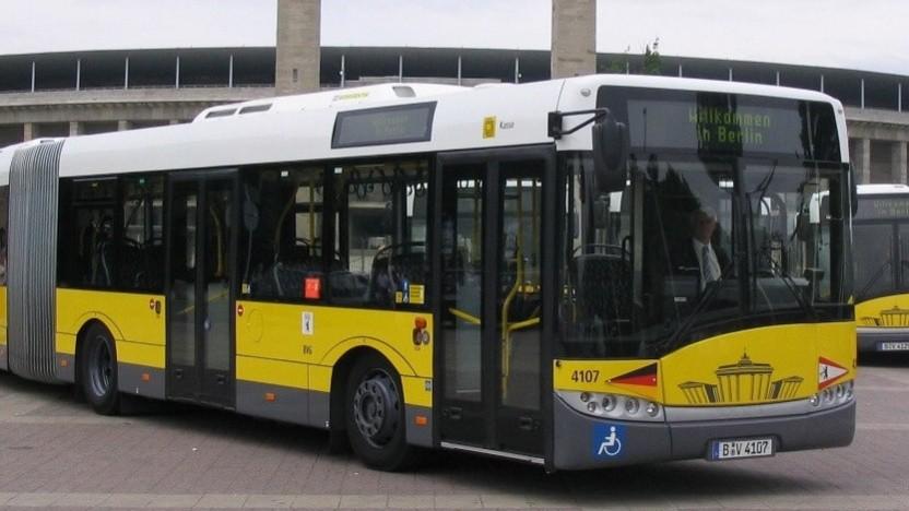 Ein Elektrobus in Berlin