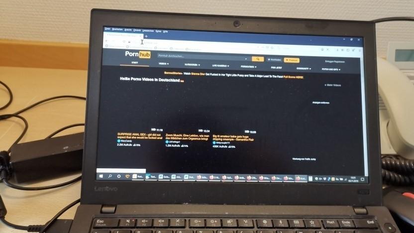 Startseite von Pornhub lädt im mobilen Internet.