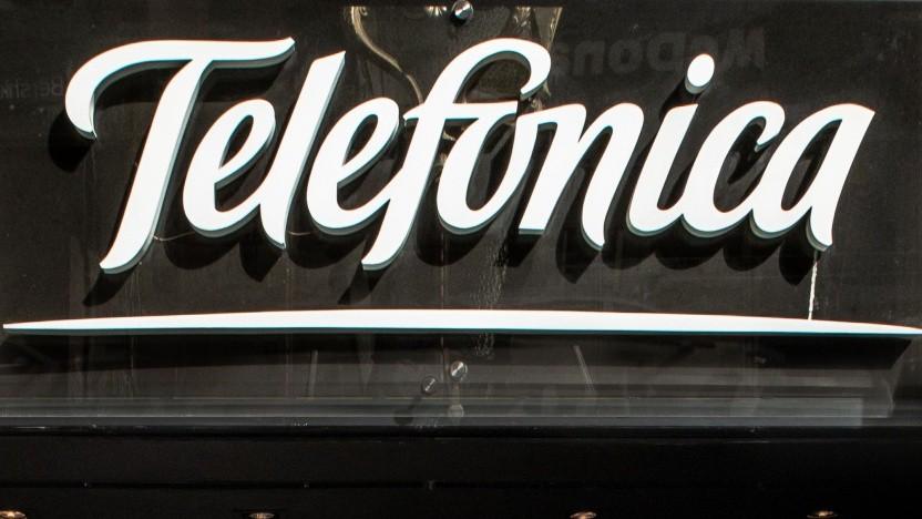 Logo der Telefonica in Spanien