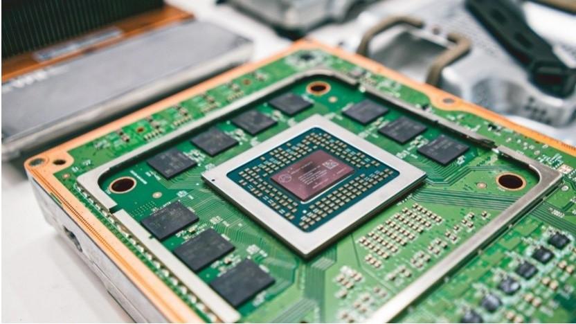 Chip und Platine der Xbox Series X alias Anaconda