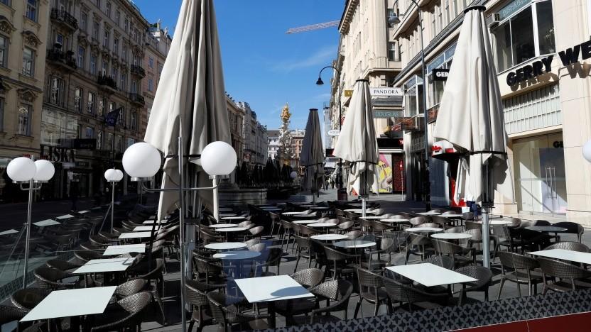 Die Innenstadt von Wien ist deutlich leerer geworden.