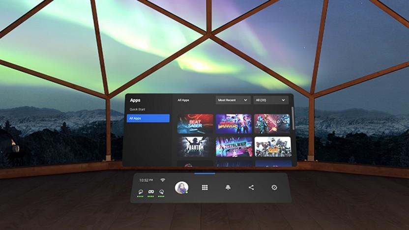 Artwork der neuen Benutzeroberfläche für Oculus Quest