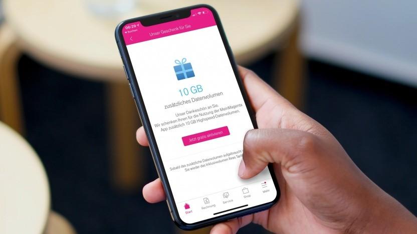 Telekom bietet Kunden 10 GByte Datenvolumen zusätzlich.