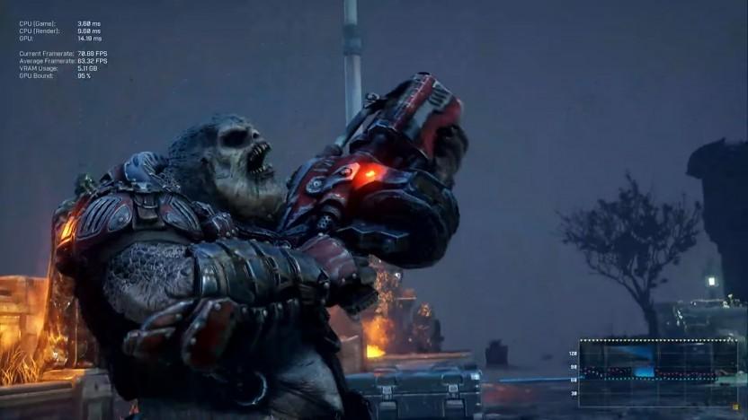 Szene aus dem integrierten Benchmark von Gears Tactics