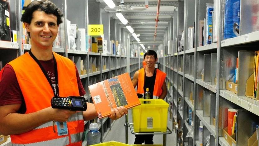 Arbeiter bei Amazon Deutschland