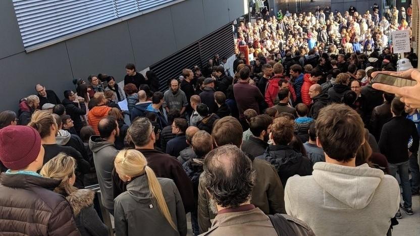 Google-Walkout in Zürich im Jahr 2018