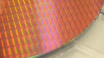 Ein älterer Intel-Wafer mit 14-nm-Dies