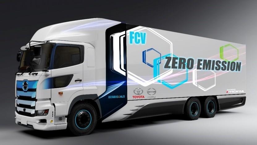 Der Brennstoffzellen-Lkw soll eine Reichweite von 600 Kilometern haben.