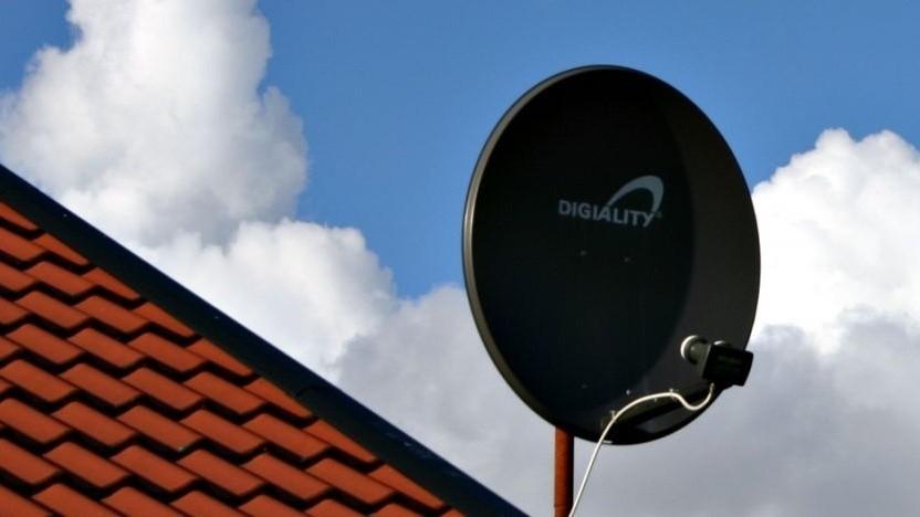 Satellitenantenne für den Fernsehempfang