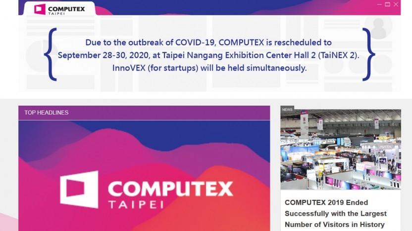 Die Computex 2020 wird verschoben.