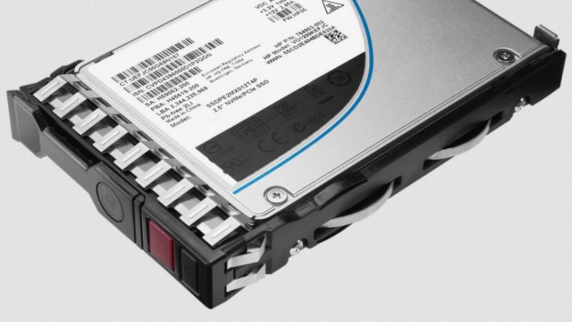 Eine SSD von HPE, hier mit NVMe/PCIe statt SAS