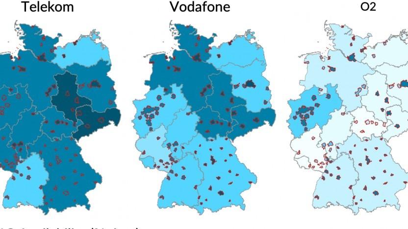 Vergleich für das Mobilfunknetz in Deutschland