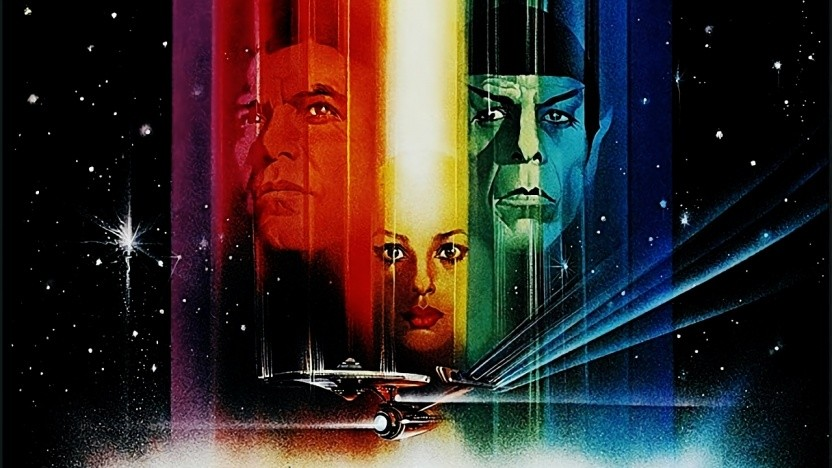 Das farbenfrohe Filmposter von Star Trek: Der Film.