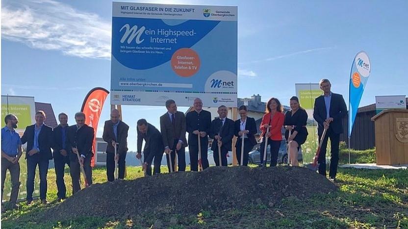 M-net bringt Glasfaser-Internet nach Oberbergkirchen.