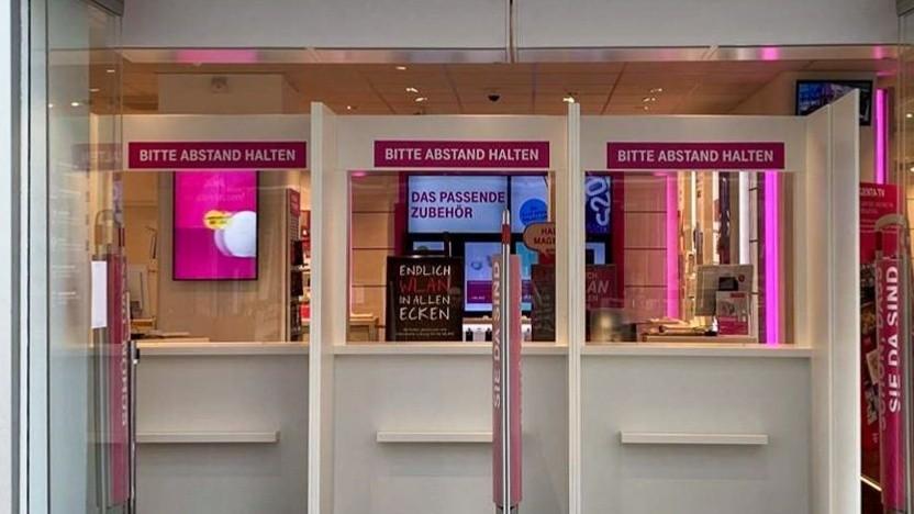 Neue Notshops der Telekom sind offen.
