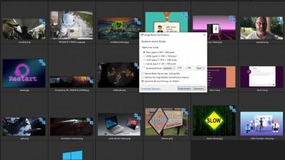 Windows 10: Powertoys ermöglichen Skalierung mehrerer Bilder parallel - Golem.de