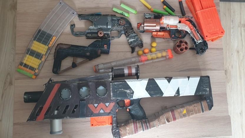 Nach ein paar Jahren Nerf-Gun-Modding sammelt sich einiges an.