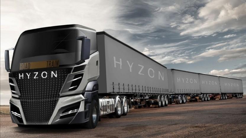Brennstoffzellen-Roadtrain von Hyzon Motors: hoher Bedarf an Technologien zur CO2-Vermeidung