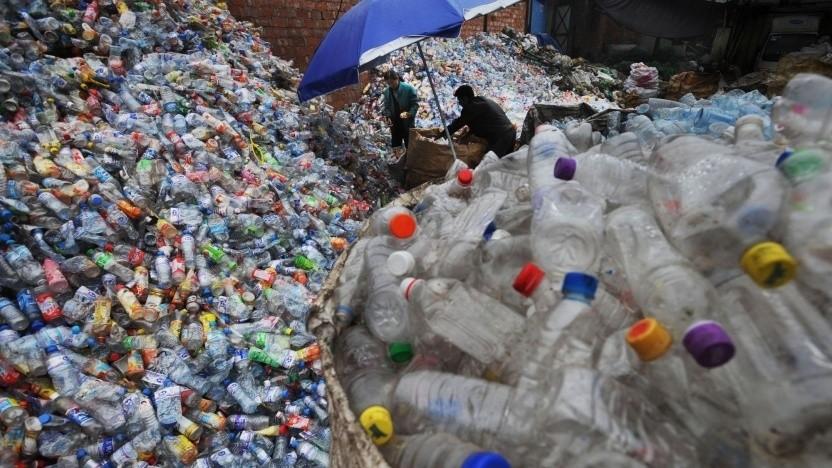 Plastikmüll: Das PET verliert nicht an Qualität.