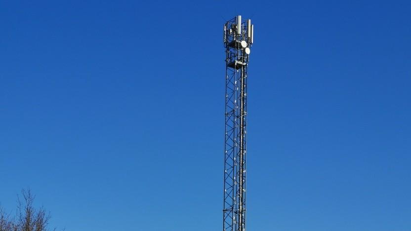 Mobilfunkstation im ländlichen Umland Berlins