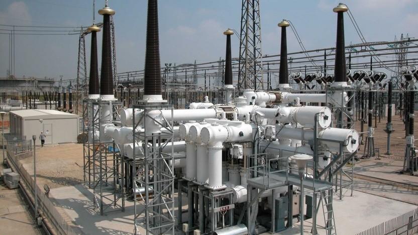 420-Kilovolt-Schaltanlage, die mit SF6 isoliert ist: Das Gas bleibt 3.200 Jahre in der Atmosphäre.