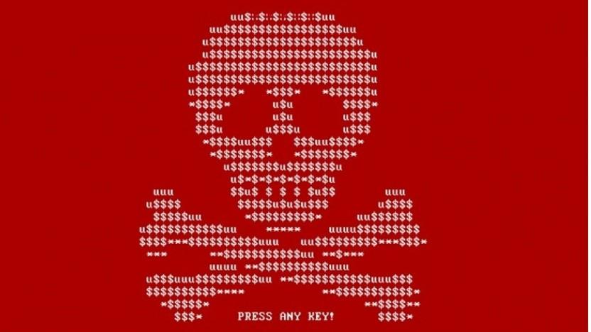 Screenshot von einem mit Ransomware infizierten Computer (Symbolbild)