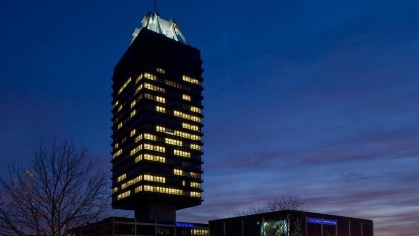 Das Funkhaus in Köln bei Nacht