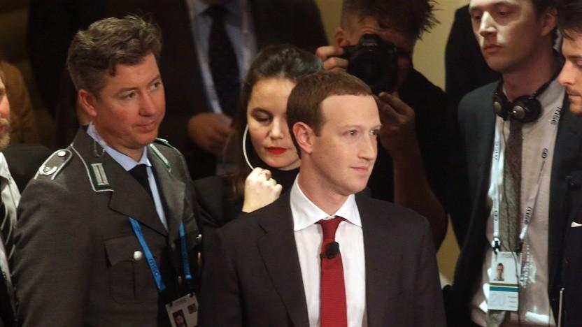 Der Gründer und Chef von Facebook, Mark Zuckerberg, trifft am 15. Februar 2020 auf der Münchner Sicherheitskonferenz ein.