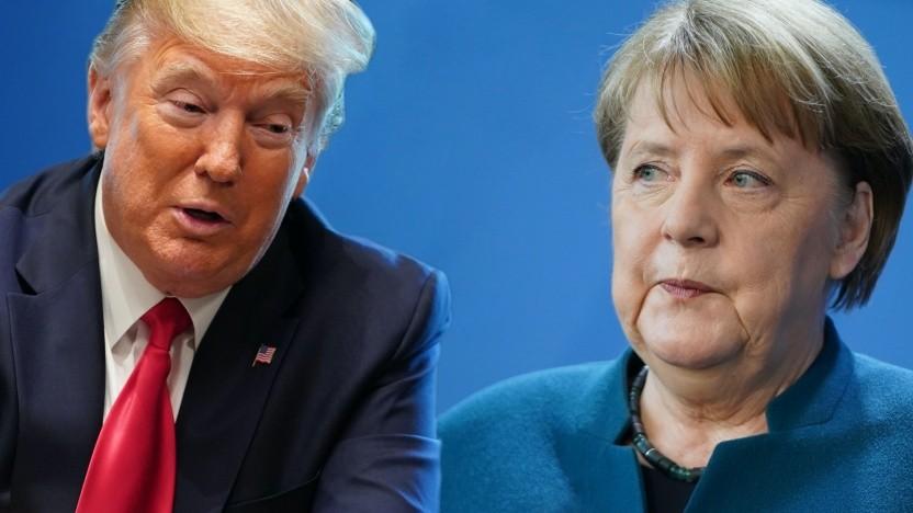 Unterschiedliche Strategien zur Bewältigung der Krise: US-Präsident Donald Trump und Bundeskanzlerin Angela Merkel