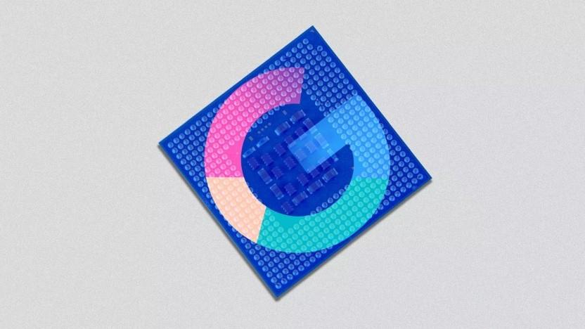 Symbolbild eines Google-Chips