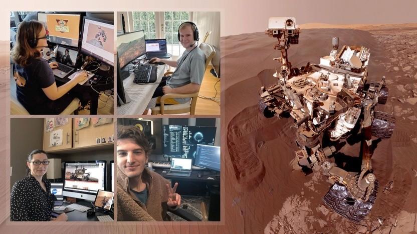 Das Curiosity-Team im Homeoffice: weniger Kommandos, aber kein Stillstand