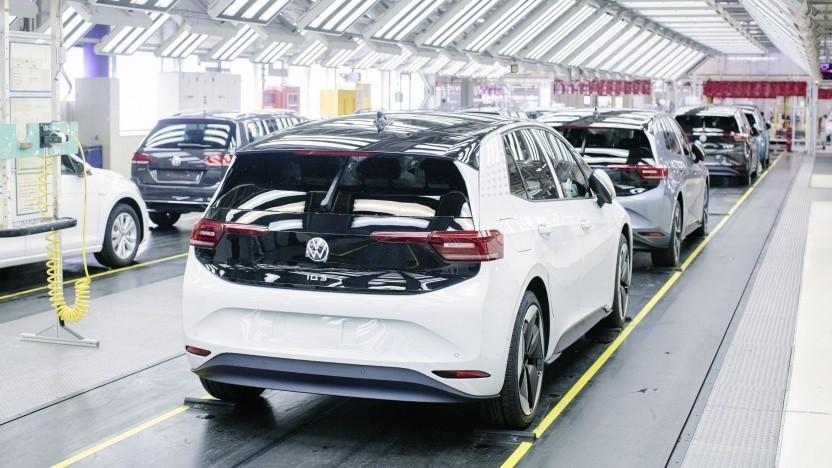 Vorserienmodelle des ID.3: Die Autoproduktion läuft schrittweise wieder an.
