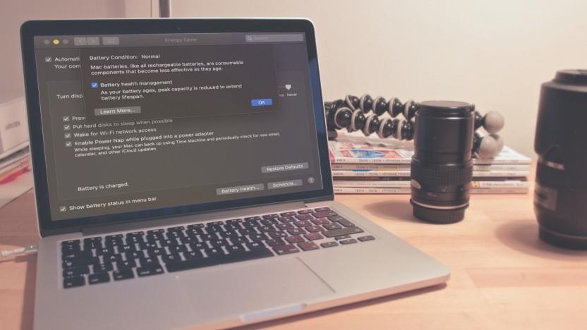 MacBook mit Akkumanagement-Funktion