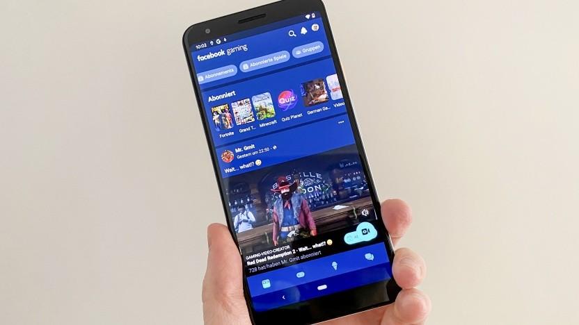 Facebook Gaming auf einem Android-Smartpone