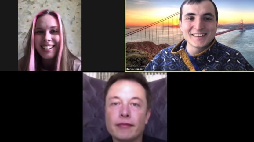 Elon Musk hat die falsche Zoomkonferenz erwischt, oder doch nicht?