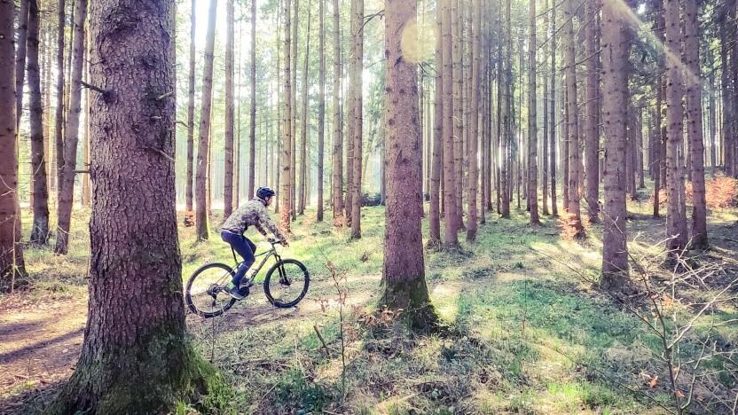 Golem.de-Redakteur beim Fahrradfahren