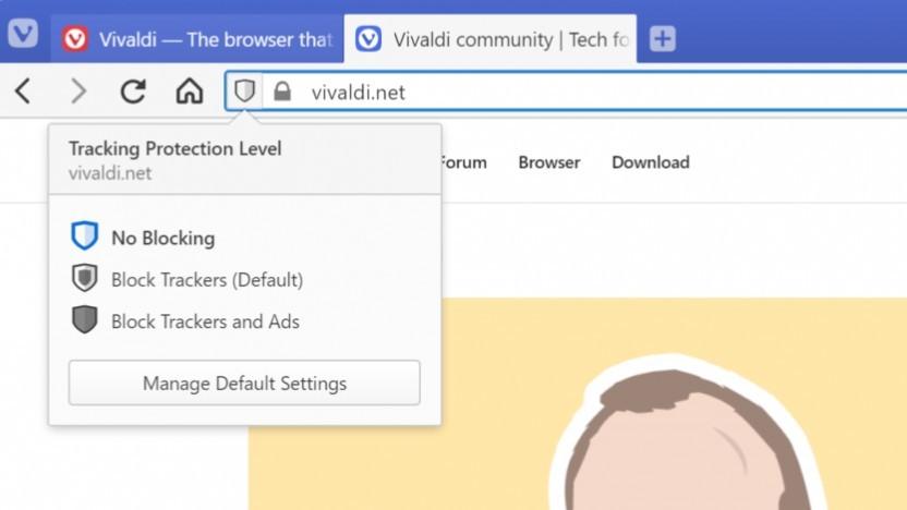 Vivaldi 3.0 bietet einen Tracking-Schutz.