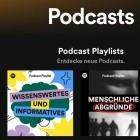 Streaming: Spotify führt kuratierte Podcast-Wiedergabelisten ein