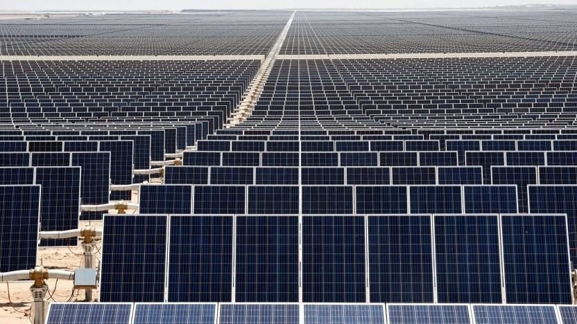 Solarkraftwerk (Symbolbild): Der Anteil der erneuerbaren Energien am Strommix lag bei 78 Prozent.