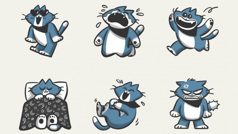 Signal-Sticker zum Verlieben und Freundeirritieren: Bandit the Cat von Agnes Lee