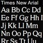Times New Arial: Times New Roman und Arial bilden neue Schriftart