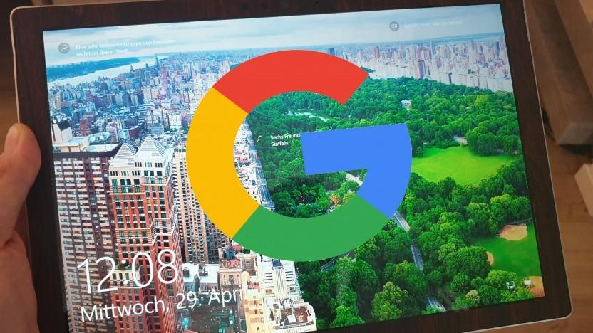 Die G-Suite-Anmeldung ist auf Windows-10-Geräten möglich.