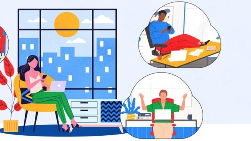 Besprechungen aus dem Homeoffice können künftig auch ohne G-Suite-Abo mit Google Meet durchgeführt werden.